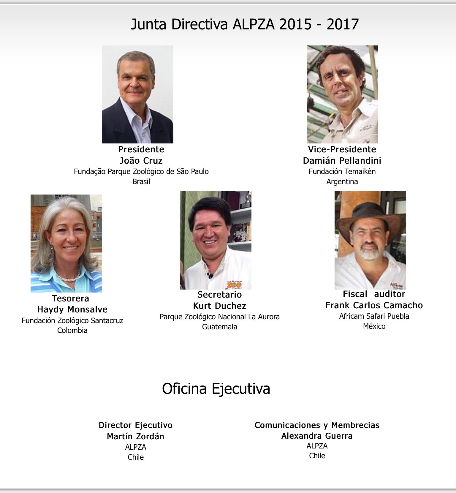 La doctora Haydy Monsalve continua siendo parte de la junta directiva de ALPZA 2015-2017