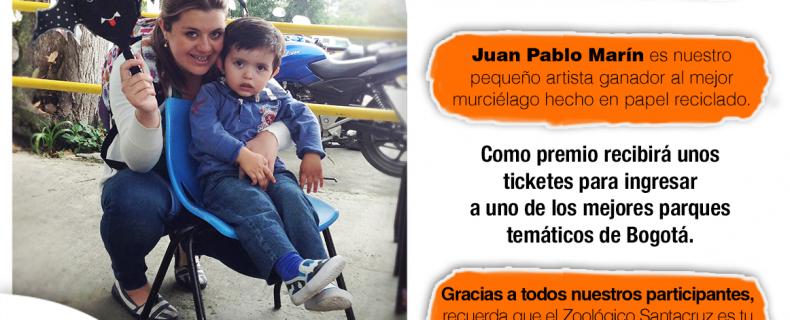 Juan Pablo Marín es nuestro pequeño artista ganador